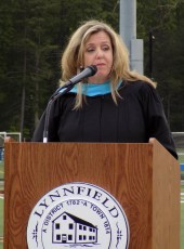 Superintendent of Schools Jane Tremblay spoke during the Lynnfield High School Graduation on June 1.