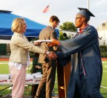 Edeh Ballo receives his diploma