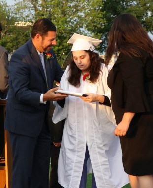 Megan Esposito receives her diploma
