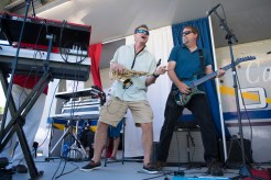 Hal Holiday and the Tones performed at Glendale Park on Saturday, with Neil Kay on saxophone and Ken Risher on electric guitar