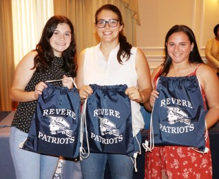 NEC All–Stars, Eve Lescovitz, Olivia McManus and Capt. Victoria Correia. Captain Correia was also picked All-Conference as well.