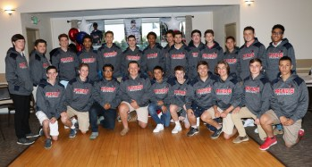 The boys received sweatshirts from the Parents Club for their dedication and hard work. The Patriots posted one of their better seasons in 2018 with seven victories, and with only three seniors leaving, the hopes for a better 2019 are very promising.