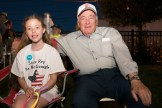 Emily Hanlon joined her grandfather, Councilor at Large John Hanlon, during the fireworks show on Saturday evening