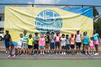 Malden youth enjoyed a day of tennis at Devir Park with the United States Tennis Association, many kids being introduced to the sport for the first time.