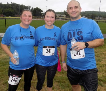 Shown, from left to right, are Mary Scott, 41, of Winchester, Amy Carlisle, 33, and Brian Carlisle, 33.
