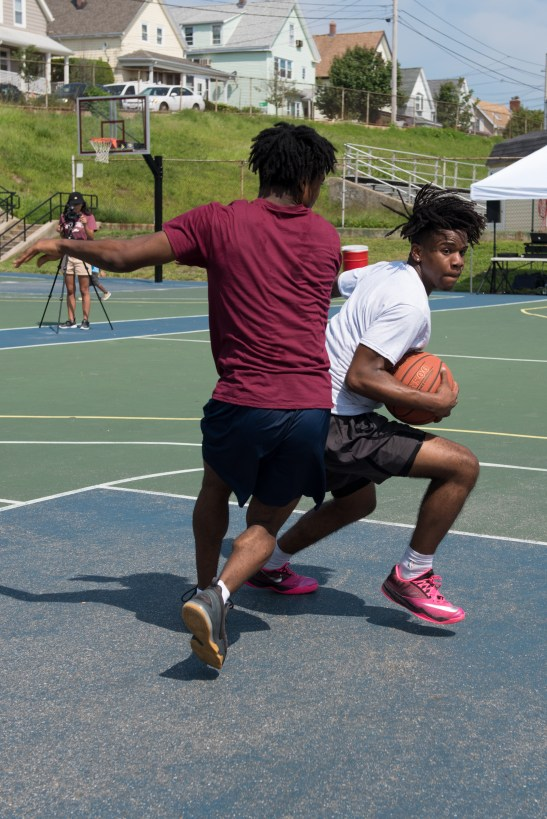 Everett teens participated in a 3-on-3 basketball tournament on Saturday at Florence Street Park.