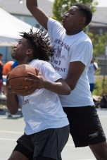 Christian Molain and Abdul Bah participated in the end of summer 3-on-3 basketball tournament in Everett.