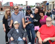 Marie Mottola celebrated her 90th birthday with her family on Broadway last Saturday. Shown in photo, Joey, Andrea, Ernie, Donna Mottola, Jean Ellsworth and Pete D'Amico.