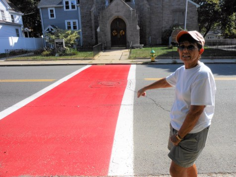 ANOTHER CLOSE CALL: A volunteer at the food pantry recently got hit while in the crosswalk in front of the Cliftondale Congregational Church in Saugus, according to Rosemarie Verderico.