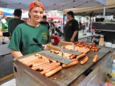 HOT DOGS ANYONE? Dominic Imbrogna, a Star Scout and member of Saugus Boy Scout Troop 61, was in charge of grilling the hot dogs as part of his troop's fundraising efforts.