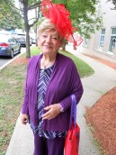 "LAST YEAR'S ""PERSON OF THE YEAR"": Ruth L. Berg, who was one of the Saugus citizens honored last year, shows off her red hat."