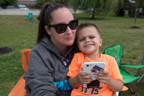 Sharon and Domenick Doucette cheered on players at Glendale Park