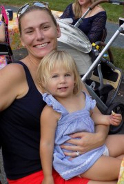 Chelsea Rich with her two-year-old daughter, Brynlee