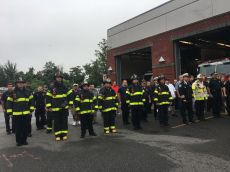 Another moment of silence was held during the State Fire Marshal's suggested guideline 9/11 ceremony at the Fire Station on Tuesday morning.