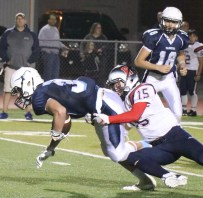 William Ginepra with another outstanding Patriot defensive play.