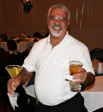 Rich Sorrentino having a great time at the reunion last Saturday night.