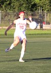 Megan Bluette with a midfield pass