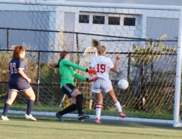 Alivia Burke put the second score for the Sachems in the net.