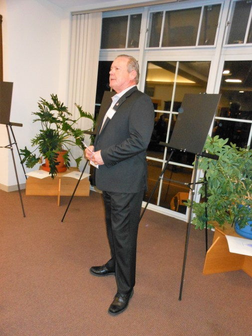 MASTER OF CEREMONIES: John Smolinsky, a longtime member of the board of the Foundation for the SPL, again presided over the foundation's annual gala last Saturday night.