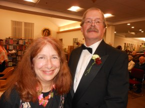 CELEBRATING READING: Saugus Historical Society President Laura Eisener and her husband, Paul Kenworthy, the society's vice president, were there to support the library at the Foundation for the SPL's Fourth Annual Gala.