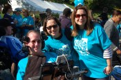 Architect Steve Saling is shown with LFCL residents at the ALS & MS Walk for Living.