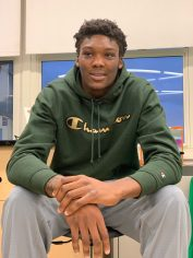 Celtics rookie Rob Williams encourages students to never give up.