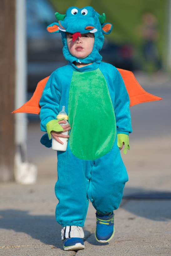 Alexander Phelps dressed as a dragon for Halloween on Wednesday.