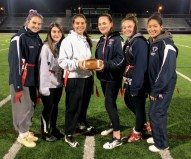 THE LEADERS: Revere High 2018 Powderpuff co-captains, from left to right, Danielle Dion, Izabella Dampier, Olivia McManus, Joli Giuliano, Jenna Wells and Kamila Calle. Let's give the team our support by attending this fun event.