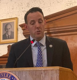 Mayor Brian Arrigo said that with Police Sgt. John Cannon's promotion, his job description will continue to become more intense, referencing recent rampages in innocent places.