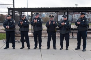 Police officers – including Sergeant Paul Durant, Detective Robert Hall, Detective Dan Tucker, Lieutenant Rick Ditrapano, Officer Joseph Pepicelli and Sergeant Larry Jedrey – were honored on Tuesday at Glendale Park.