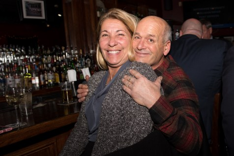 Irene and Paul Cardillo socialized at Stewarts on Tuesday evening, having the opportunity to meet Senate President Karen Spilka.