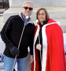 Community Development Director Curtis Bellavance and Peabody Main Streets President Deanne Healey ran a s'more-making station at Courthouse Plaza.