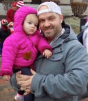 Peabody resident Matthew Bourgeois with his 11-month-old daughter, Evelyn.