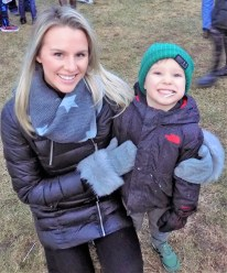 Kaitlyn Maxwell and Jaxson Waldo, 4, during the Holiday Stroll and Tree Lighting on Dec. 1. (Advocate Photos by Christopher Roberson)