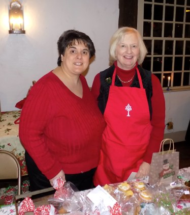 Annmarie Pendola (left) and Janet Everson selling baked goods at the Meeting House.