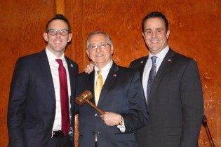 Mayor Brian Arrigo congratulates 2019 City Council President Arthur Guinasso and 2019 City Council Vice President Patrick Keefe, Jr., who were elected on Monday night at City Hall.