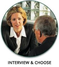 Interview and choose a professional patient advocate