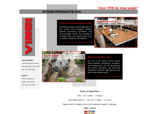 Adventure Web Productions Launches Vinci Stone Products, INC. new live site!
