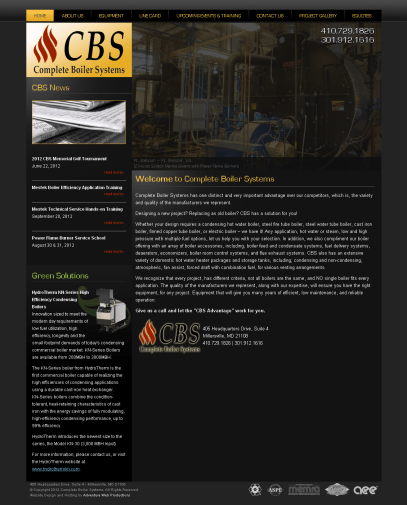 Adventure Web Productions has recently launched Complete Boiler Systems' (CBS) new website!