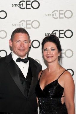 Gina Ramsey And Husband Brian at  SmartCEO's 2012 Best-Run company Black-Tie Event.