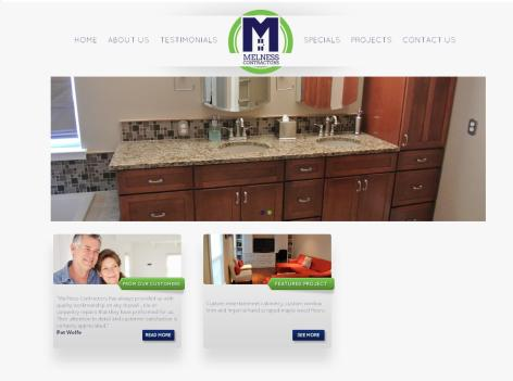 Adventure Web Productions has recently launched MelNess Contractors' new live site!