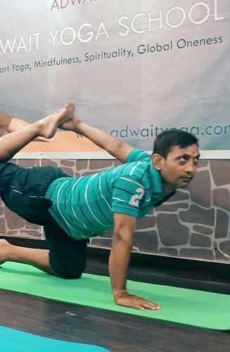 Manoj Kumar Jha Adwait Yoga School Teacher