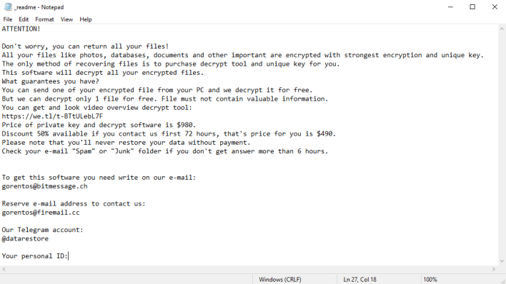message from Mzlq virus