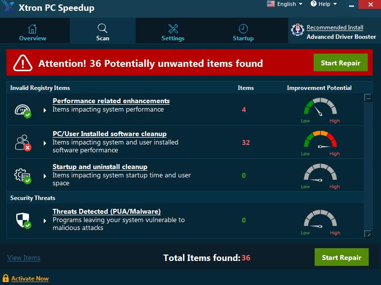 What is Xtron PC Speedup?