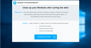 "How To Remove ""Clean up your Windows after surfing the web!"" pop-ups"