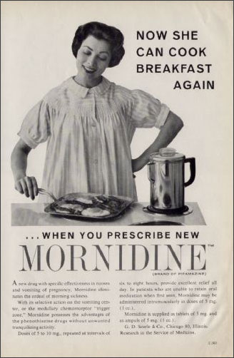 Vintage Drug Ad, Mornidine