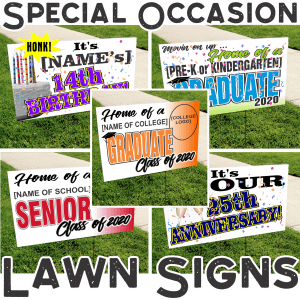 Special Occasion Lawn Signs