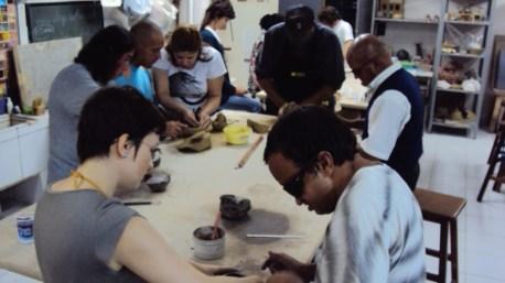 Imagens do Curso Cerâmica e Inclusão. UFRGS. 2009.