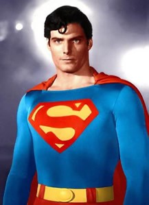 """Christopher Reeve in his movie persona of """"Superman"""""""