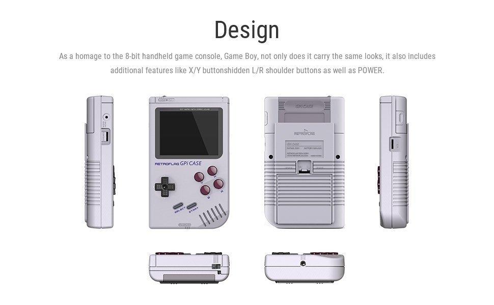 retroflag gpi nintendo game boy case design
